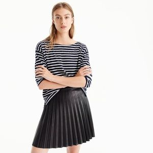 J.Crew Pleated Faux Leather Mini skirt
